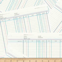 Jot Ledger Paper Marshmallow Fabric