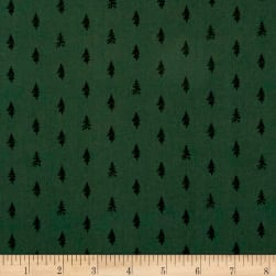 Night Hike Trees Forest Fabric