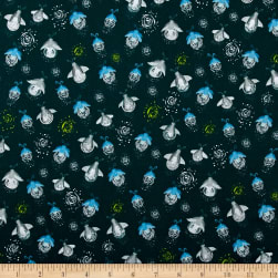 Night Hike Fireflies Green Gables Fabric