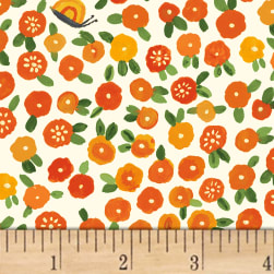 BFFS Blossoms Orange Fabric