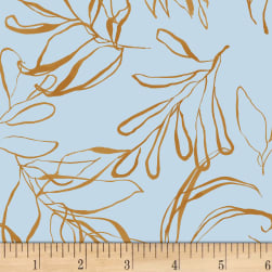 Botany Foliage Light Blue Fabric