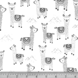 Michael Miller Minky Alpaclettes Alpaclettes Stone Fabric