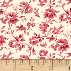 Sussex Floral Vine Rose Fabric