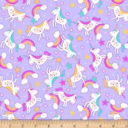 Cubby Bear Flannel Prints Chasing Rainbows Lavender Fabric
