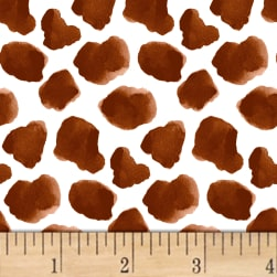 Silo Cow Spots Brown Fabric