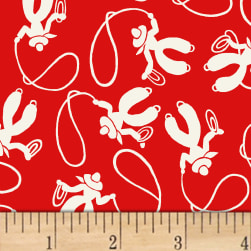 Storybook Ranch Cowboys Red Fabric