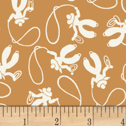 Storybook Ranch Cowboys Brown Fabric