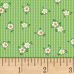 Storybook Ranch Prairie Stripe Green Fabric