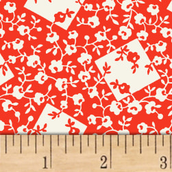 Storybook Ranch Rose Bandana Red Fabric