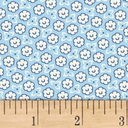 Storybook Ranch Sweet Floral Blue Fabric