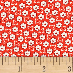 Storybook Ranch Sweet Floral Red Fabric