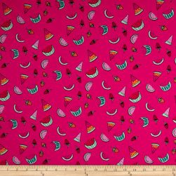 Double Brushed Jersey Knit Watermelon and Strawberry Craze