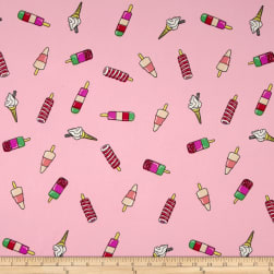 Double Brushed Jersey Knit Popsicle Parade Pink Fabric