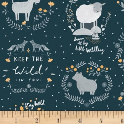 Dear Stella Stay Wild Animal Vignettes Eclipse Fabric