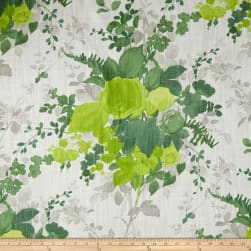 Duralee Olivia Green Barkcloth Fabric