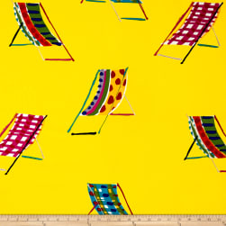 Alexander Henry Beach Chair Canvas Yellow Fabric