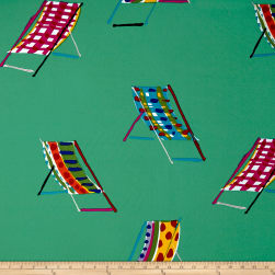 Alexander Henry Beach Chair Canvas Teal Fabric