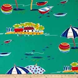 Alexander Henry Sunshine Isle Canvas Teal Fabric