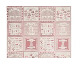 Alexander Henry Everyone Needs Support Canvas Tea/Pink Fabric