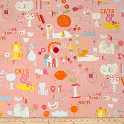 Alexander Henry Quite Delish Canvas Pink Fabric