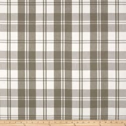 Laura & Kiran Classic Plaid Taupe/White Canvas Fabric