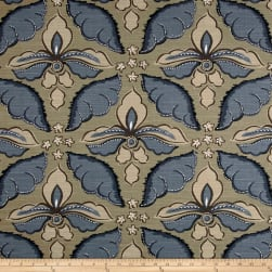 Robert Allen @ Home Painted Damask Indigo Fabric