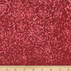 Anthology Batik Roses Cherry Pie Fabric
