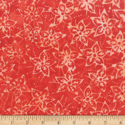 Anthology Batik Star flowers Poppy Fabric