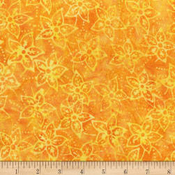 Anthology Batik Star flowers Yolk Fabric