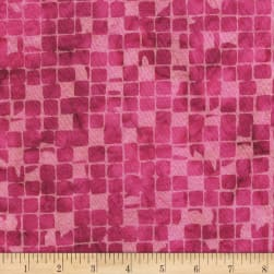 Anthology Batiks Checked Out Romance Fabric