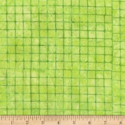 Anthology Batiks Checkerboard Greenie Fabric