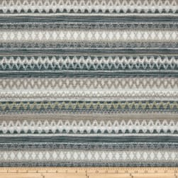 Southwestern Chenille Stripe Taupe Fabric
