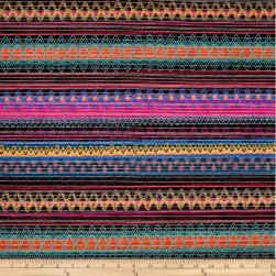 Springs Creative Southwestern Chenille Stripe Multi Fabric