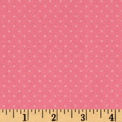 Andover Bijoux Square Dot French Rose Fabric