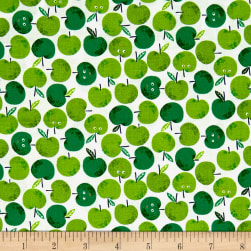 Andover/Makower Fruity Friends Apples Green Fabric