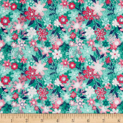 Andover/Makower Fruity Friends Floral Blue Fabric