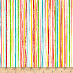 Andover/Makower Fruity Friends Chalk Stripe Multi Fabric