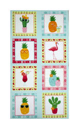 Andover/Makower Fruity Friends 24''Panel Multi Fabric