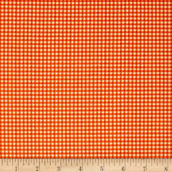 Andover/Makower Fruity Friends Gingham Orage Fabric