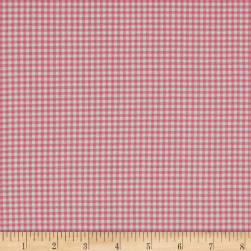 Andover/Makower Fruity Friends Gingham Pink Fabric