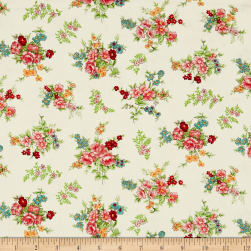 Andover/Makower Katie Jane Bouquet Vanilla Fabric