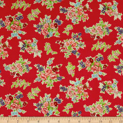 Andover/Makower Katie Jane Bouquet Red Fabric