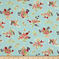 Andover/Makower Katie Jane Bouquet Blue Fabric