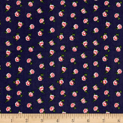Andover/Makower Katie Jane Rose Blue Fabric