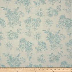 Andover/Makower Katie Jane Toile Teal Fabric