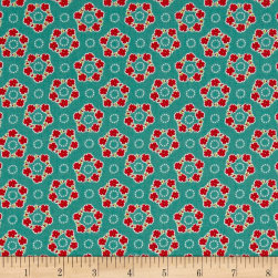 Andover/Makower Katie Jane Garland Teal Fabric