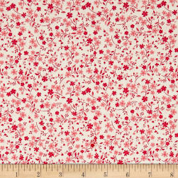 Andover/Makower Katie Jane Tonal Floral Pink Fabric
