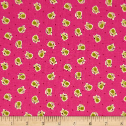 Andover/Makower Kitty Kitty Scatter Pink Fabric