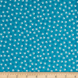 Andover/Makower Kitty Kitty Paws Blue Fabric