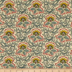Andover Maling Road Canterbury Flower Blue Fabric